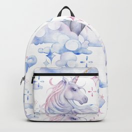 Watercolor unicorn in the sky Backpack