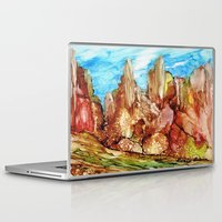 southwest Laptop & iPad Skins featuring Rocky Southwest by Rosie Brown