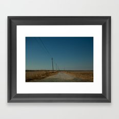 Road to the Bridge to Nowhere, Stafford, NJ Framed Art Print