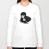 roller derby Long Sleeve T-shirts featuring Roller Derby Catrina by Mean Streak