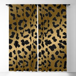 Cheetah ombre fur pattern 2.0 Blackout Curtain