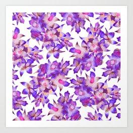 Vintage Floral Violet Art Print