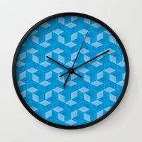 escher Wall Clocks featuring Escher #008 by rob art | simple