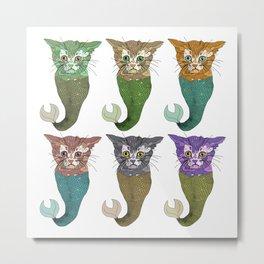 Cat Fish Metal Print