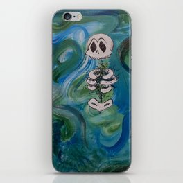 Blue Skelly Dude iPhone Skin
