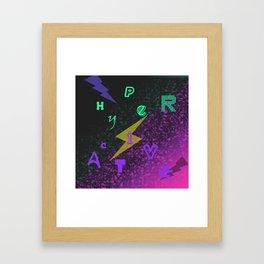 Attentiondeficithyperactivity.. Framed Art Print