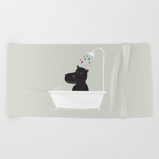 The Happy Shower Beach Towel