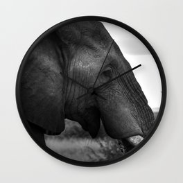 Large Male Elephant Wall Clock