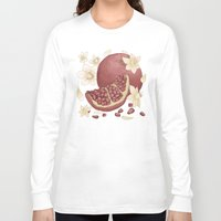 pomegranate Long Sleeve T-shirts featuring Pomegranate  by Bailey Anne Watro