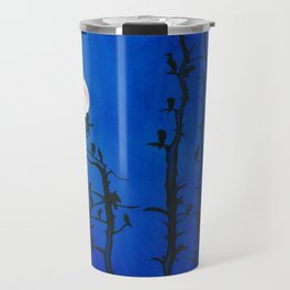 Moonlit bird silhouettes Travel Mug
