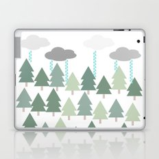 Pacific Northwest Tree and Rain Scene - Portland, PDX, Seattle, Washington, Oregon Laptop & iPad Skin