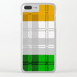 Irish Tartan Flag Clear iPhone Case