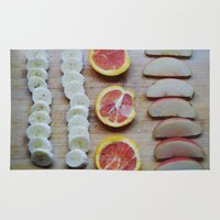 fruit Area & Throw Rugs featuring Fruit by Natalie Guardado