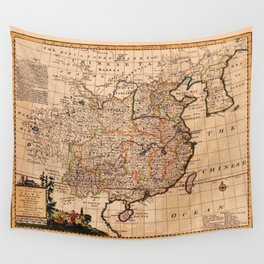 Map Of China 1747 Wall Tapestry