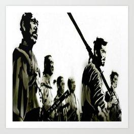 Brotherhood Of Samurai Art Print