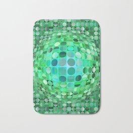 Optical Illusion Sphere - Green Bath Mat