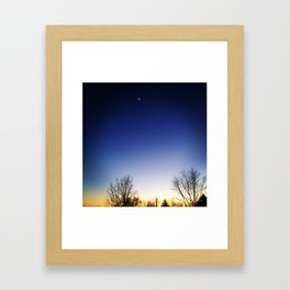Moon Sunset Framed Art Print