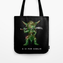 G is for Goblin Tote Bag