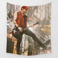 michael clifford Wall Tapestries featuring Clifford Michael // Live by Fan_Girl_Designs