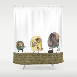 it's just not safe Shower Curtain