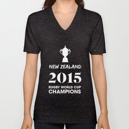 New Zealand 2015 Rugby World Cup Champions Unisex V-Neck