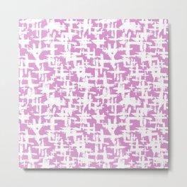 Brush cross on  pink Metal Print
