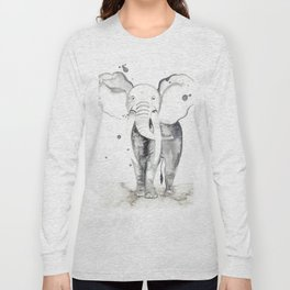 aquarela Elefante Long Sleeve T-shirt