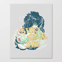 fleet foxes Canvas Prints featuring Fleet Foxes 3 by Allison Brunton