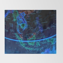 Southeast Asia Throw Blanket