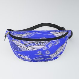 Japanese Mountains Print Fanny Pack