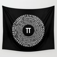pi Wall Tapestries featuring TRANSCENDENCE OF PI by THE USUAL DESIGNERS