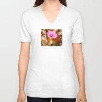 cosmos V-neck T-shirts featuring Cosmos by LudaNayvelt