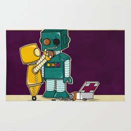 Robots on Friendship Rug