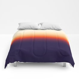 Infrared Orange & Ultraviolet Purple Sunrise Comforters