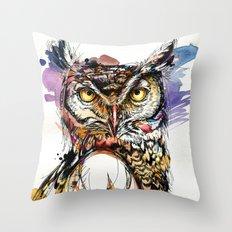 Owl Sounds Throw Pillow