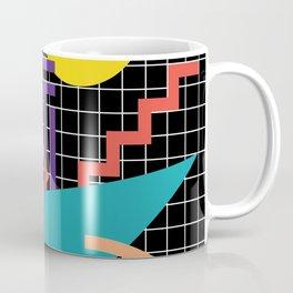 Memphis Pattern - 80s Retro Black Coffee Mug