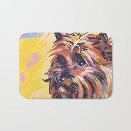 Fun Red Cairn Terrier Dog Portrait bright colorful Pop Art by LEA Bath Mat