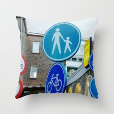 Holland LOVES Traffic Signs! Throw Pillow