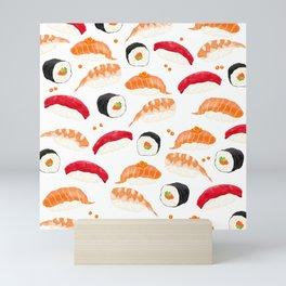 Sushi Pattern Mini Art Print