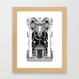 Ritual of Capricorn Framed Art Print