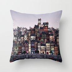 Fishing Village Throw Pillow