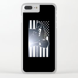 Welding: The Thin Metal Line Flag Clear iPhone Case