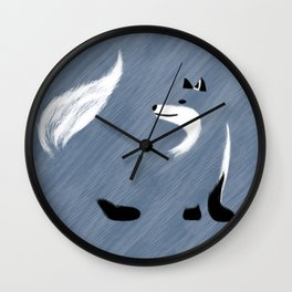Unique Blue Fox Design Wall Clock