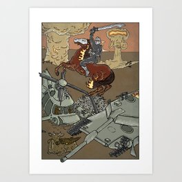 Conflict on Earth Art Print