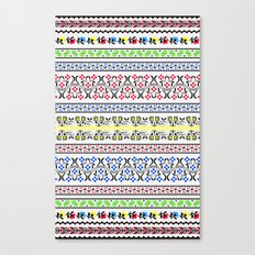 Folk Embroidery Canvas Print