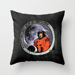 Space Monkeys Throw Pillow