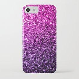 Purple Pink Ombre glitter sparkles iPhone Case