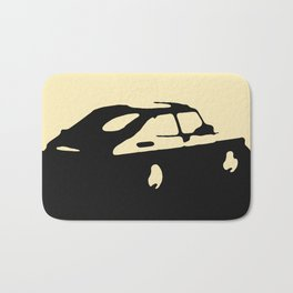 Saab 900 classic, Black on Cream Bath Mat