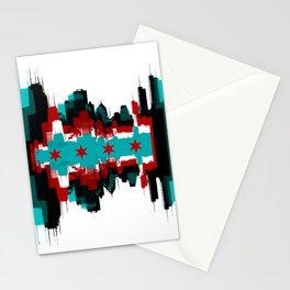 Chicago Flag Skyline Stationery Cards