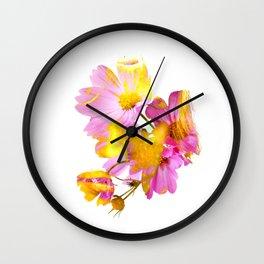 New Mixed Era -  Purple Faced Flower Wall Clock